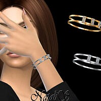 Diamond Pave Accented Bangles By Natalis