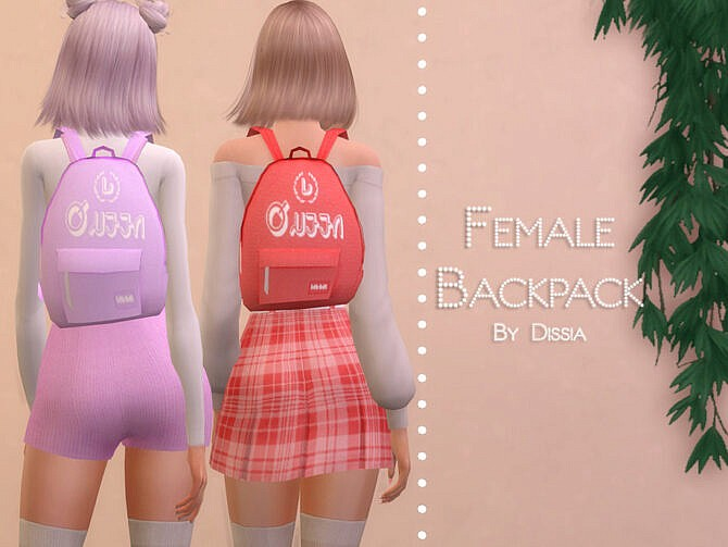 Sims 4 Backpack Female by Dissia at TSR