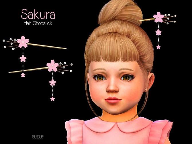 Sims 4 Sakura Toddler Chopstick Set by Suzue at TSR