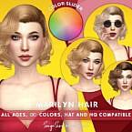 Retro Marilyn Hair (color Slider Retexture) By Sonyasimscc
