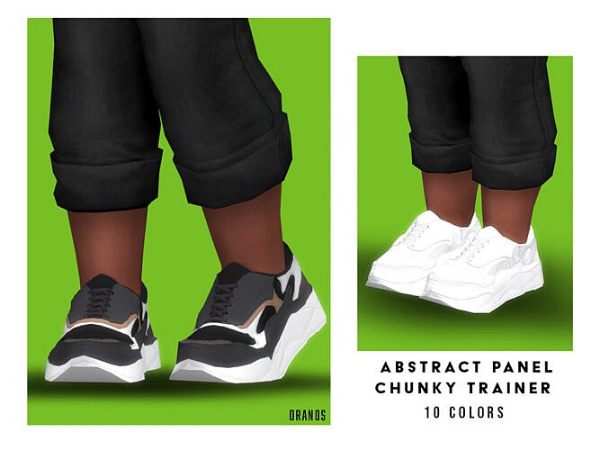 Abstract Panel Chunky Trainer (toddler) By Oranostr