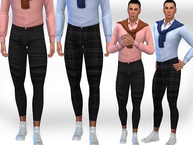 Sims 4 Men Fit Pants by Saliwa at TSR