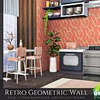 Retro Geometric Wall By Rirann