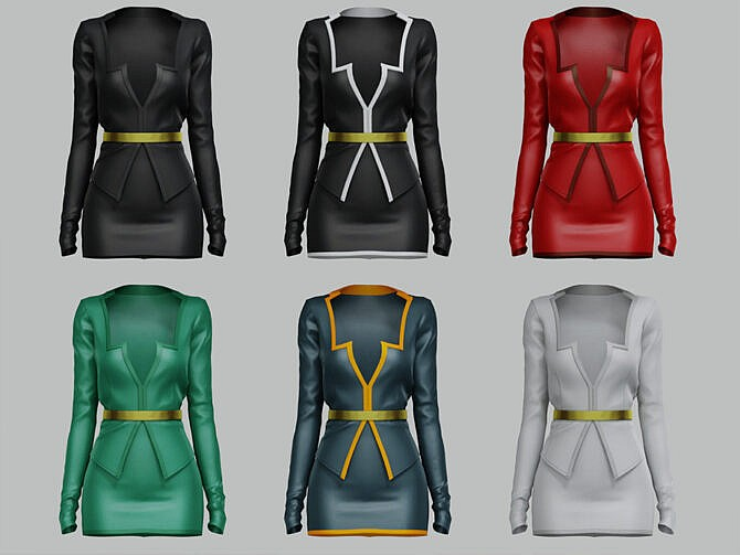 Sims 4 Lizzie suit by belal1997 at TSR
