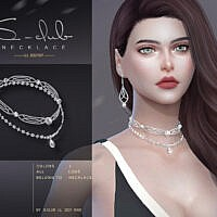 Diamond Necklace 202107 By S-club Ll