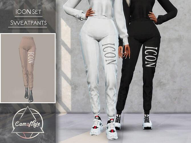 Sims 4 ICON Set Sweatpants by Camuflaje at TSR