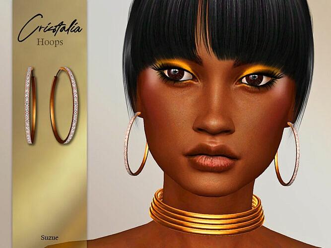 Cristalia Hoops Earrings By Suzue