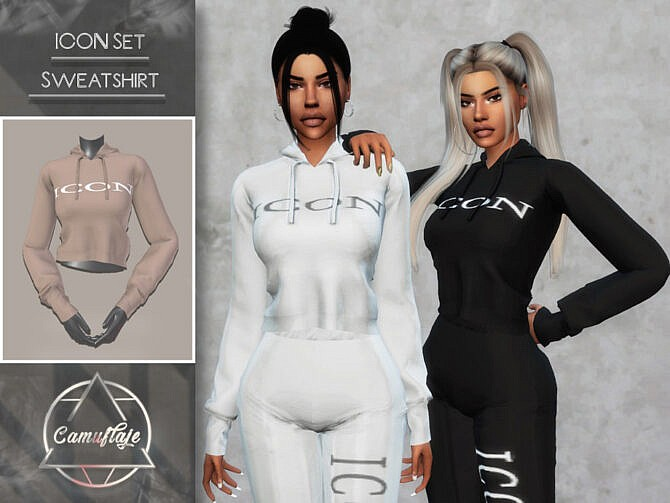 Sims 4 ICON Set Sweatshirt by Camuflaje at TSR