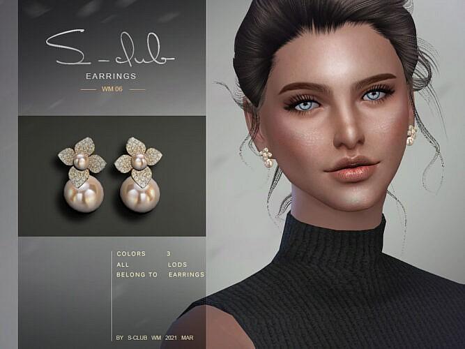 Earrings 202106 By S-club Wm