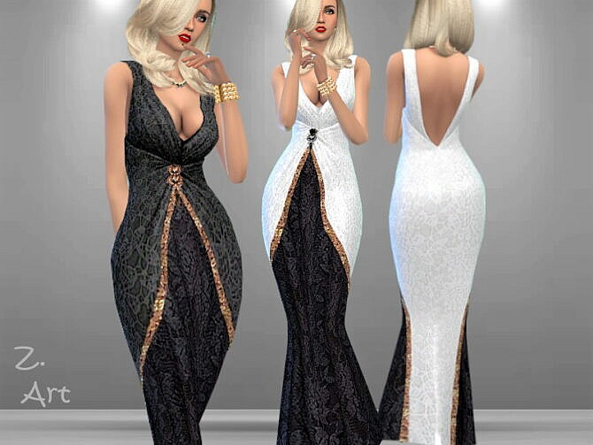 Sims 4 Luxury 03 Gown by Zuckerschnute20 at TSR