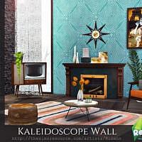 Retro Kaleidoscope Wall By Rirann
