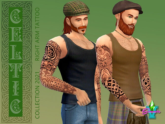 Sims 4 Celtic Right Arm Tattoo by SimmieV at TSR