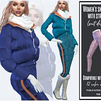 Ski Pants With Stripes By Sims House