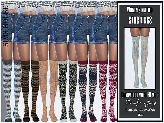 Knitted Stockings By Sims House