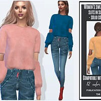 Women's Sweater With Slits In Sleeves By Sims House