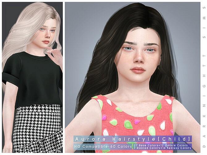 Sims 4 Aurora Hairstyle [Child] by DarkNighTt at TSR