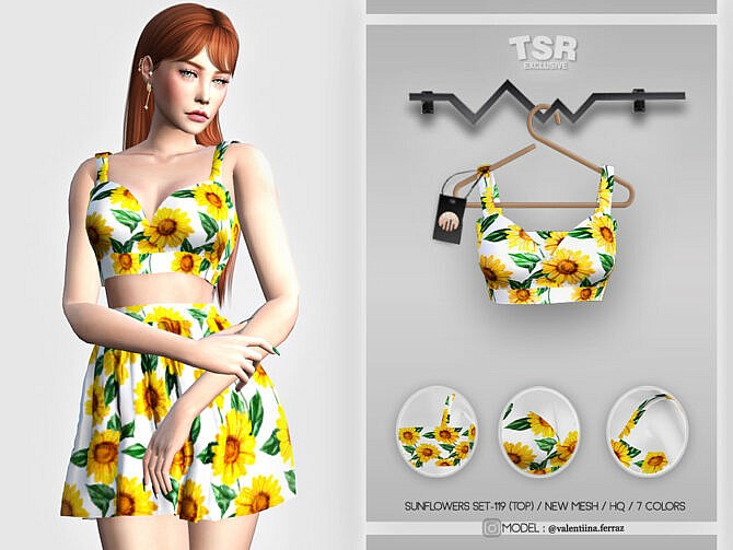 Sims 4 Sunflowers SET 119 (TOP) BD441 by busra tr at TSR