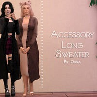 Accessory Long Sweater By Dissia