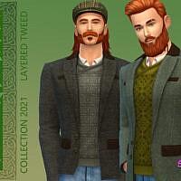 Celtic Layered Tweed Jacket By Simmiev