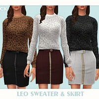 Leo Sweater & Skirt By Black Lily