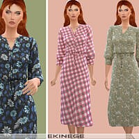 Floral Print Midi Dress By Ekinege