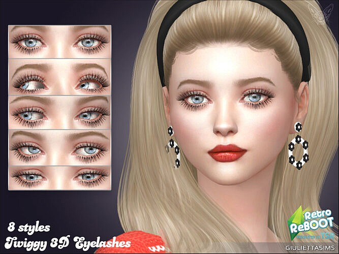 Retro Twiggy 3d Eyelashes By Feyona