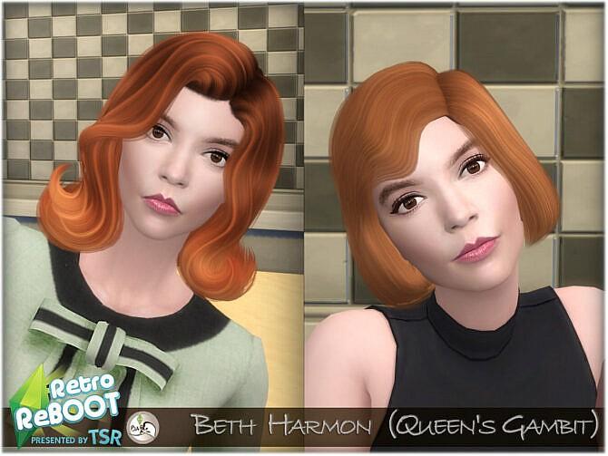 Sims 4 Beth Harmon (Queens Gambit) by BAkalia at TSR