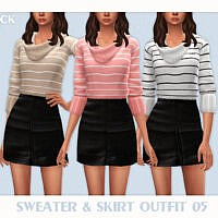Sweater & Skirt Outfit 05 By Black Lily