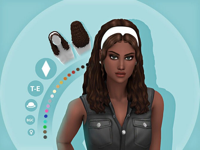 Sims 4 Maddie Hair by simcelebrity00 at TSR