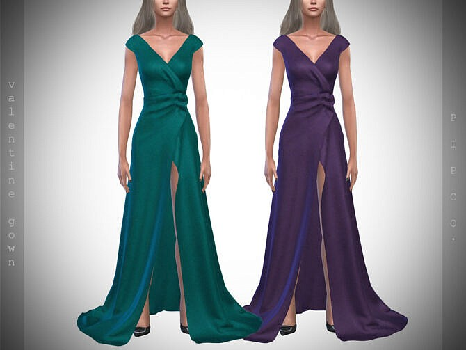 Sims 4 Valentine Gown II by Pipco at TSR