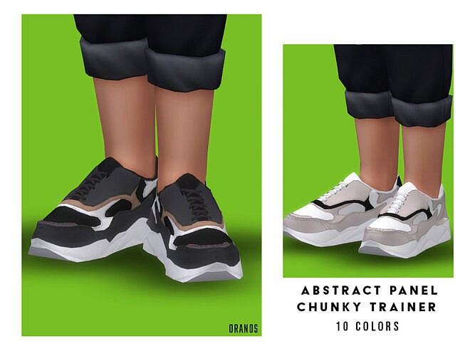 Abstract Panel Chunky Trainers (child) By Oranostr