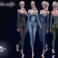 Wnella Denim Outfit By Jomsims