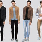 Clyde Leather Jacket By Mclaynesims