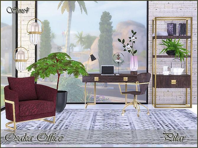 Sims 4 Osaka Office by Pilar at TSR