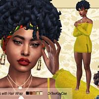 Afro Curls With Hair Wrap By Drteekaycee