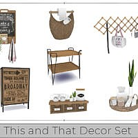 This And That Decor Set By Chicklet