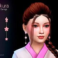 Sakura Child Earrings By Suzue