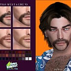 Retro Mustache V3 By Merci