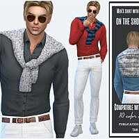 Shirt With Sweater On The Shoulders By Sims House