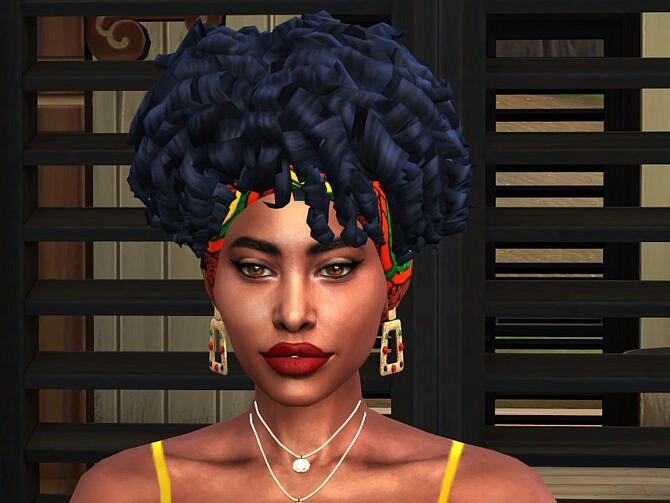 Sims 4 Afro Curls with Hair Wrap by drteekaycee at TSR