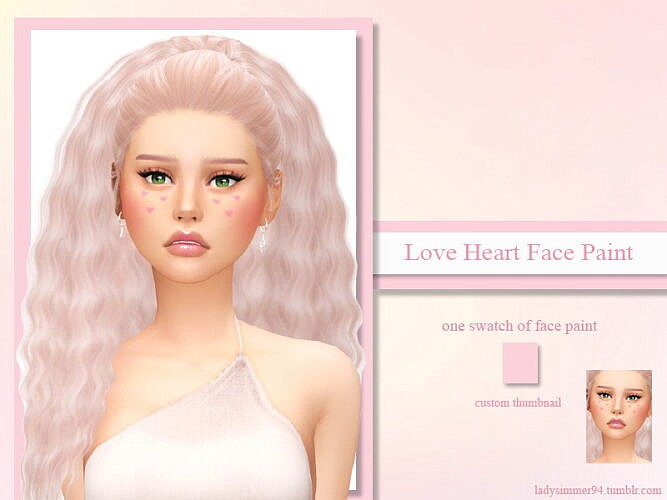Love Hearts Face Paint By Ladysimmer94