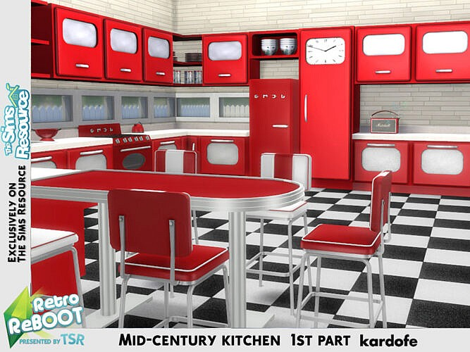 Retro Mid-century Kitchen 1st Part By Kardofe