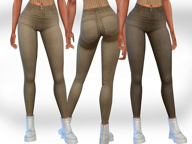 Sims 4 Female Camel Jeans by Saliwa at TSR