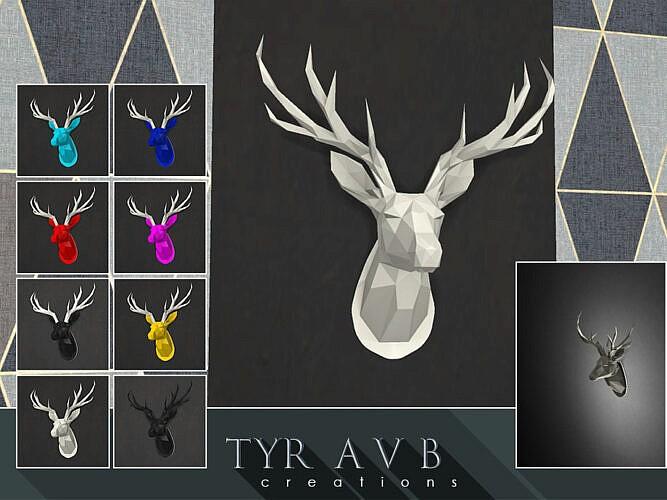 Led Backlit Wall Art Origami Deer Head By Tyravb