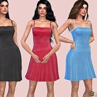 Dainty Lace Trim Satin Dress By Harmonia