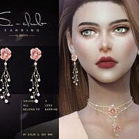 Flower Earrings 202111 By S-club Ll