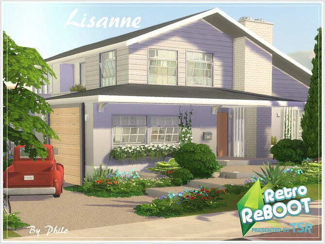 Sims 4 Retro Lisanne House by philo at TSR