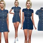 Short Sleeve Denim Dress By Saliwa