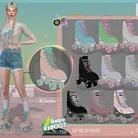 Retro Roller Skate By Dansimsfantasy