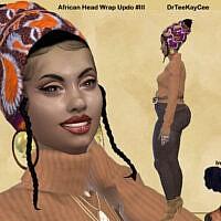 African Head Wrap Updo #iii By Drteekaycee
